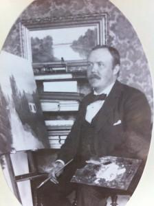Köpman Josef Ljungquist var också amatörmålare.