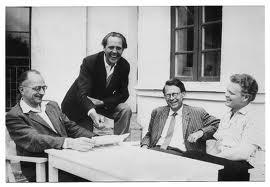 Arne Klingborg under storhetstiden på 60-talet i kretsen av sina skandinaviska kollegor; Jörgen Smit, Norge; Oscar Borgman Hansen, Danmark och Helmer Knutas från Finland.