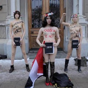 Från en Femendemonstration i Stockholm