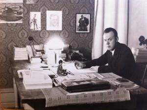 Walter vid tiden för genombrottet med romanen Ombyte av tåg.