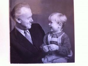 Walter med sonen.