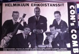 Affisch för Finlands-turnén med Vin Cardinal.